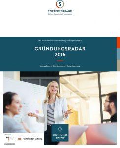 Cover des Gründungsradar 2016