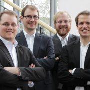 Das MiCROW-Team (v.l.n.r.: Manuel Mikczinski, Frank Ludwig, Tobias Tiemerding und Benny Hartwig)