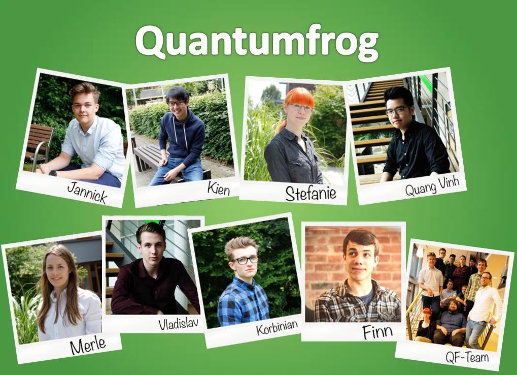 Das Team von Quantumfrog.
