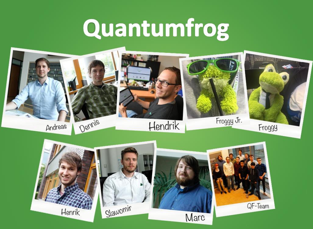 Das Team von Quantumfrog (Teil 1).